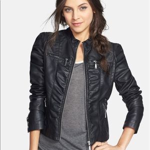 NWT Joujou Moto Jacket Vegan Leather S Cafe Racer